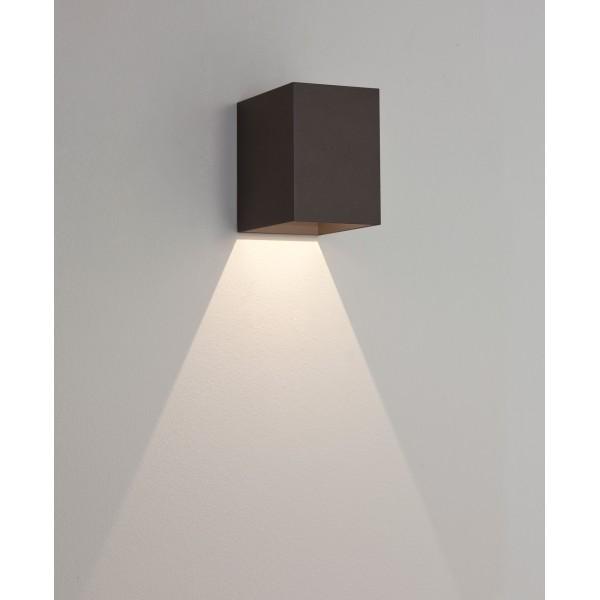 applique murale ext rieure led oslo 100 noire astro lighting. Black Bedroom Furniture Sets. Home Design Ideas