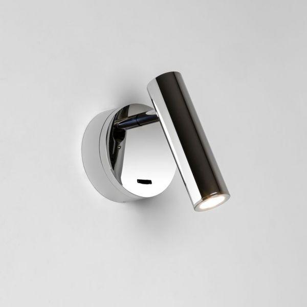 applique murale led enna surface chrome avec interrupteur. Black Bedroom Furniture Sets. Home Design Ideas