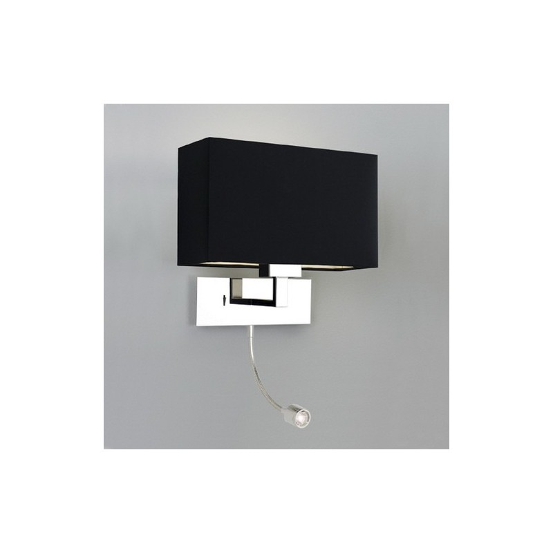 applique murale park lane chrome avec liseuse led astro lighting. Black Bedroom Furniture Sets. Home Design Ideas