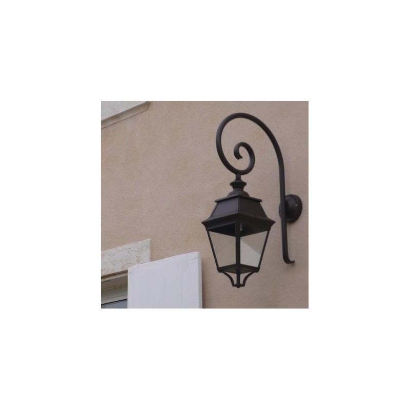 applique murale avenue 3 potence arrondie noire roger pradier. Black Bedroom Furniture Sets. Home Design Ideas