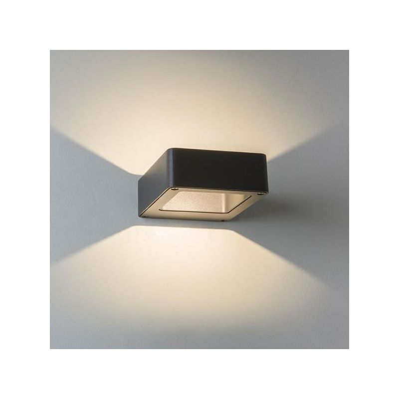 Applique murale led napier noire astro lighting for Luminaire exterieur murale led