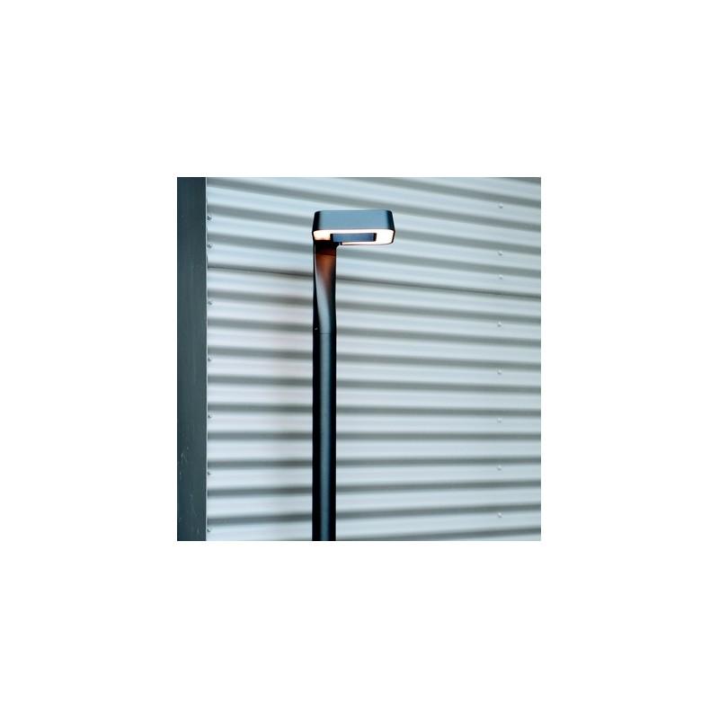 lampadaire ext rieur led square gris m tal 229cm roger pradier. Black Bedroom Furniture Sets. Home Design Ideas