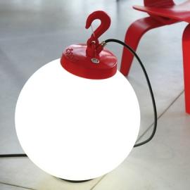 Lampe à poser Grumo boule Rouge Roger Pradier