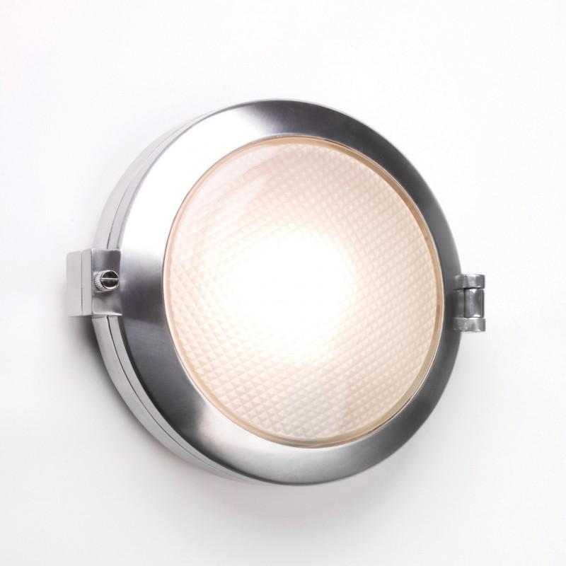 Applique murale ou plafonnier toronto rond aluminium poli for Luminaire exterieur rond