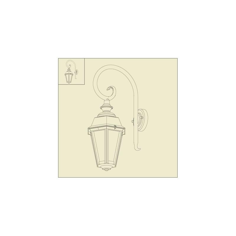 applique murale potence monaco noire roger pradier. Black Bedroom Furniture Sets. Home Design Ideas