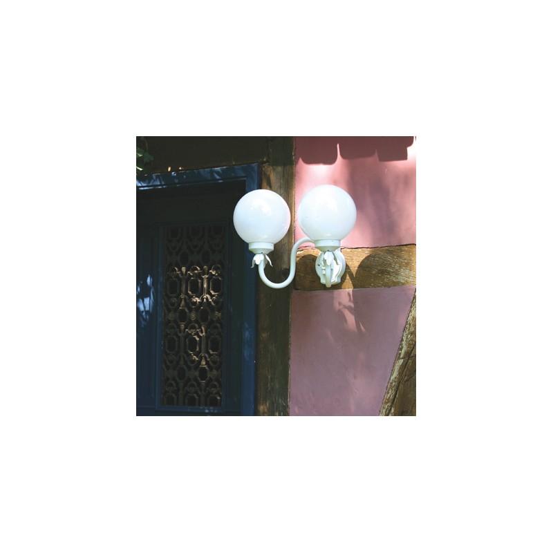 applique murale 2 lumi res boule 200 blanche roger pradier. Black Bedroom Furniture Sets. Home Design Ideas