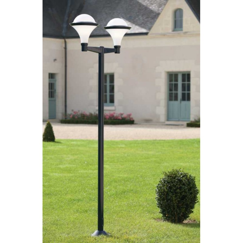 Lampadaire pat re dakota gris anthracite roger pradier for Luminaire exterieur gris anthracite