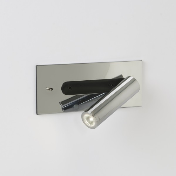 Applique murale encastrable led fuse chrome avec interrupteur astro lighting for Applique cuisine avec interrupteur