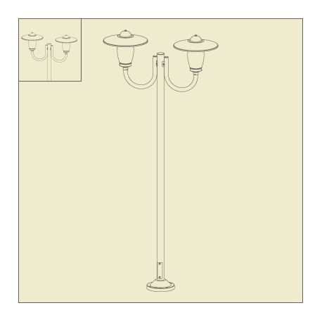 lampadaire 2 lumieres