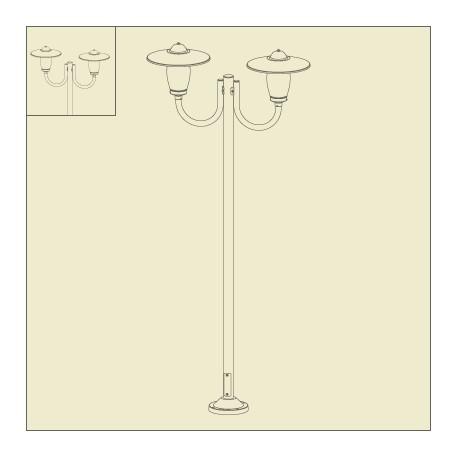 lampadaire 2 lumieres