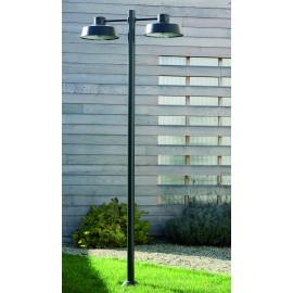 Lampadaire Faktory 2 lumières Gris ardoise