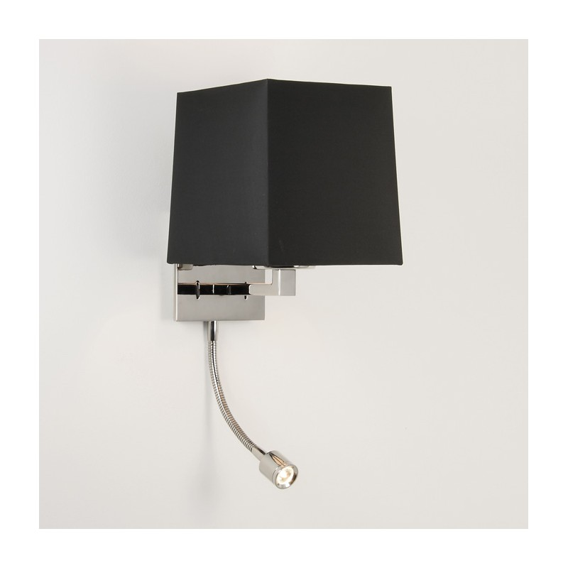 applique murale azumi nickel poli avec liseuse led astro. Black Bedroom Furniture Sets. Home Design Ideas