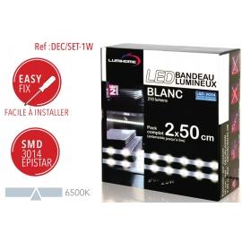 Ruban LED Blanc froid 2 x 50cm