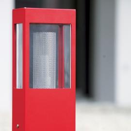 Lampadaire Tetra rouge 210cm