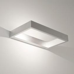 Applique murale LED D-light aluminium brossé