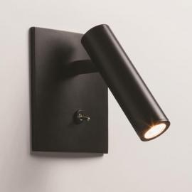 Applique murale LED encastrable Enna noire avec interrupteur
