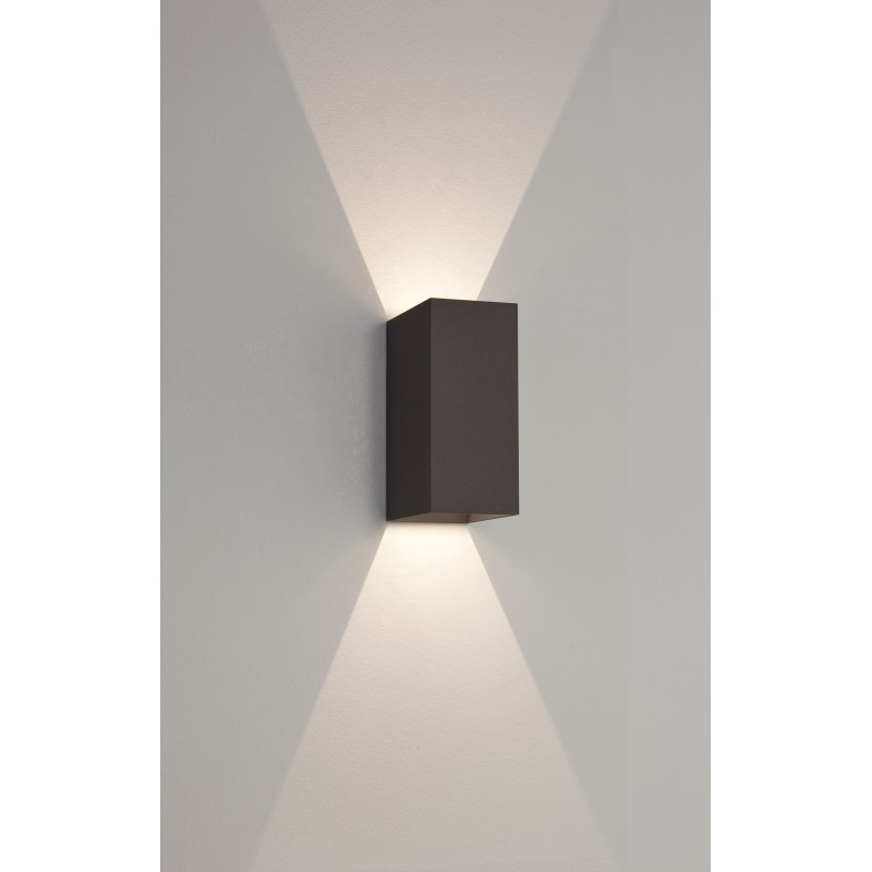 applique murale ext rieure led oslo 160 noire astro lighting. Black Bedroom Furniture Sets. Home Design Ideas