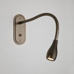 Applique murale LED Lindos bronze avec interrupteur