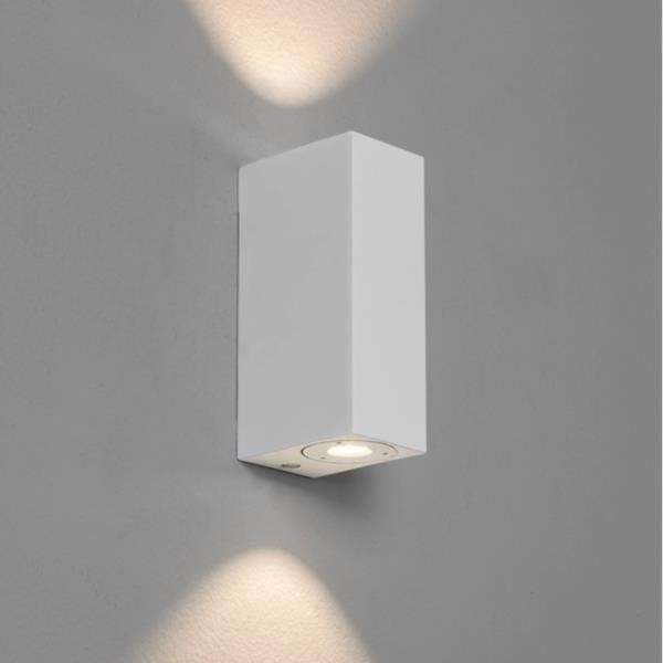 Applique murale led up down bloc blanche astro lighting - Applique murale blanche ...