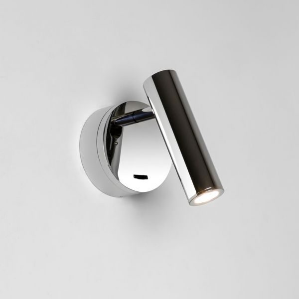 Applique murale led enna surface chrome avec interrupteur - Lampe murale avec interrupteur ...