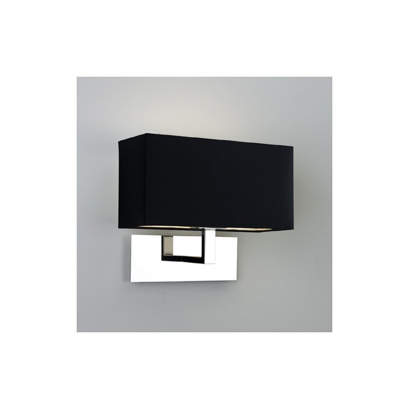 applique murale park lane chrome avec abat jour noir astro lighting. Black Bedroom Furniture Sets. Home Design Ideas