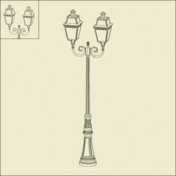 Lampadaire 2 lumières Avenue 3 Noir