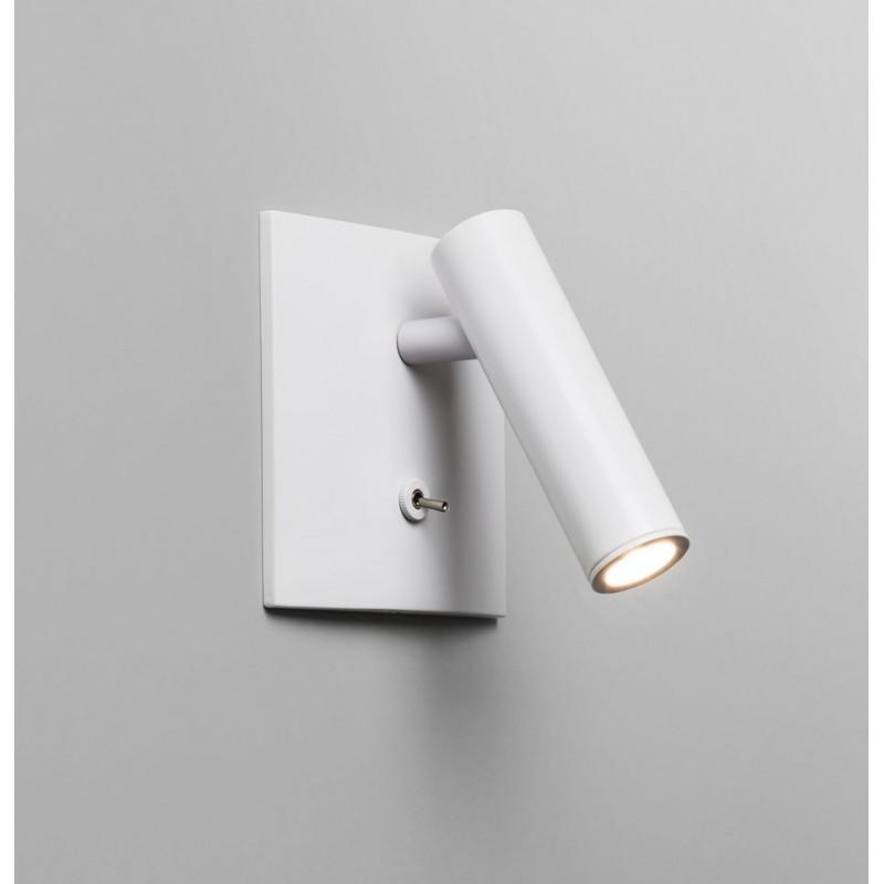 Applique murale led encastrable enna blanche avec for Spot avec interrupteur salle de bain