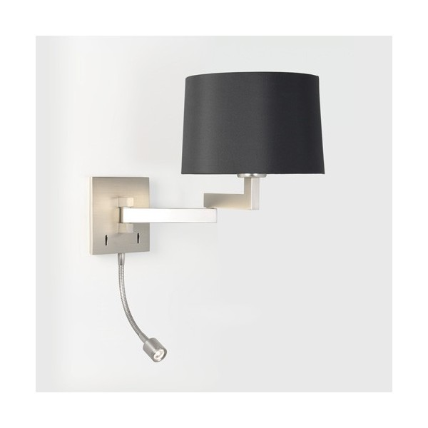 applique murale momo avec liseuse led nickel mat astro. Black Bedroom Furniture Sets. Home Design Ideas