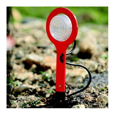 Luminaire Picto spike à planter rouge Roger Pradier