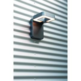 Applique murale LED Square gris métal