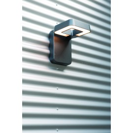 Applique murale LED Square gris métal