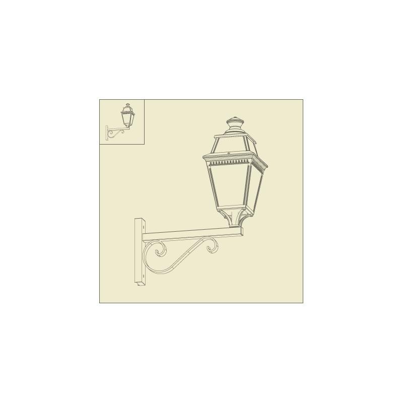 applique murale avenue 3 potence rustique patine dor e roger pradier. Black Bedroom Furniture Sets. Home Design Ideas