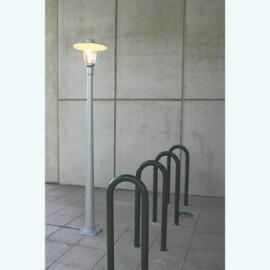 Lampadaire Bristol 1 3m15 pied conique Gris métal