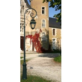 Lampadaire Place des Vosges 2 télescopique Vert de gris