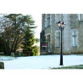Lampadaire télescopique 2 lumières Place des Vosges 1 - Evolution Noir