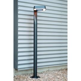 Borne extérieure LED Square gris métal 125cm