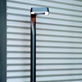 Lampadaire extérieur LED Square gris métal 229cm
