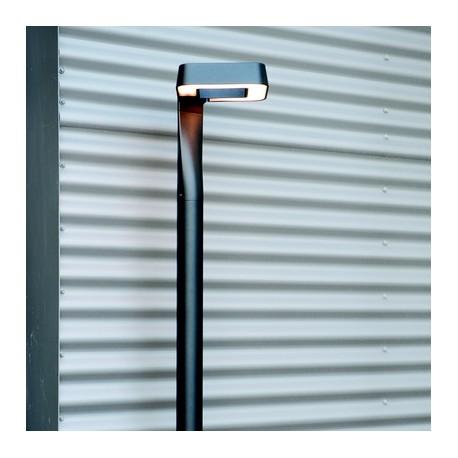 Lampadaire extérieur LED Square gris métal 229cm Roger Pradier