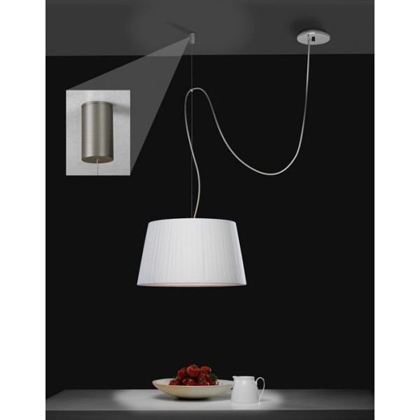 Pat re d port e suspension pendant nickel mat astro lighting for Luminaire suspension deportee