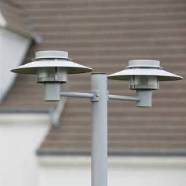 Lampadaire Kerlouan 2 lumières Gris métal