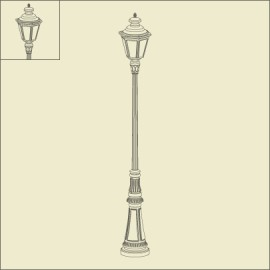 Lampadaire Louis XIII 2m49 Rouille