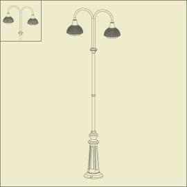 Lampadaire 2 lumières Boléro 1 Noir