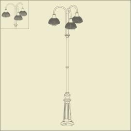 Lampadaire 3 lumières Boléro 1 Noir