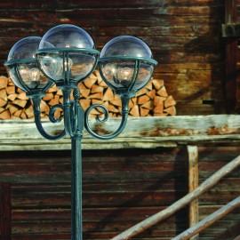 Lampadaire 3 lumières Boréal 2 Vert de gris