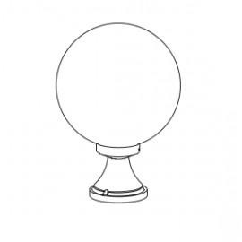 Borne Boule 300 43cm Noire
