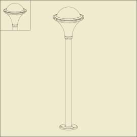 Borne Dakota Gris anthracite 1m26
