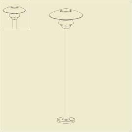 Borne Stratos 110cm Rouille