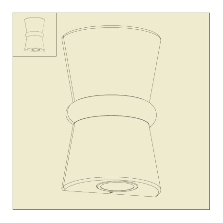 applique murale duo rouille roger pradier. Black Bedroom Furniture Sets. Home Design Ideas