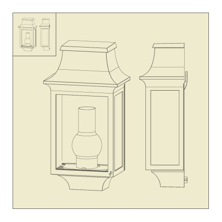 demi applique murale louis philippe 7 patine dor e roger. Black Bedroom Furniture Sets. Home Design Ideas