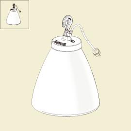Lampe à poser Grumo 60cm Rouille